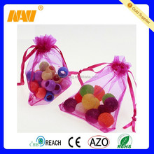 Mini Colorful Organza Gift Drawstring Bag Pouch