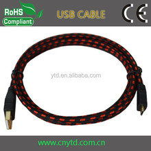NEW micro usb cable bulk Braided micro usb charging data cable for mobile phone