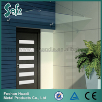 SUS304 tempered glass door canopy