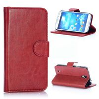 Crazy Horse Texture with Card Slots Flip Stand PU Leather Case for Samsung Galaxy S4 I9500