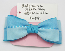 Factory Wholesale Blue Headwear for Girl Fabric Bows Hot Sale Hair Accessories 3C12F10 (approved by BV)