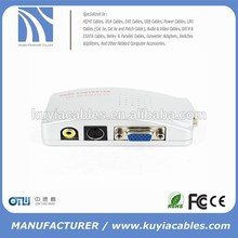 hot selling PC to TV Converter Box - VGA to RCA S-video Composite Adapter VGA to AV converter