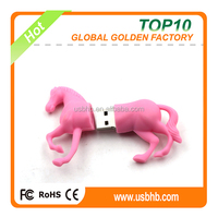 promotional gifts PVC horse 8GB external hard disk, pink color horse external hard disk