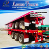 Heavy duty 60 ton tri axle extendable low bed trailer / low flatbed semi trailer / low boy truck semitrailer for Uganda