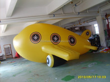 Vivid 8mL inflatable PVC flying air plane ship