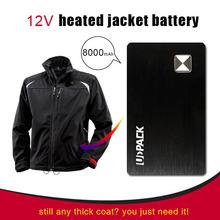 body worn portable soft shell heated jacket battery pack 12v 8000mah 5V/1A 12V/5A(UPK-08P)