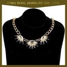 2015 fashion newest design latest fake diamond necklaces jewelry Factory price wholesale in china yiwu for women