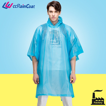 American style reusable extra large long pvc rain poncho