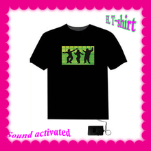 2015 hot sale EL sound actived T-shirts