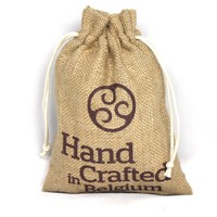 Custom tea jute bag for jewelry with logo drawstring gift pouch
