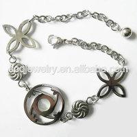 Alibaba Wholesale Stainless Steel Link Chain metal bracelet power balance
