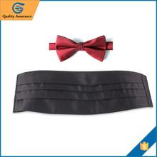 Custom Men Red Bow Tie And Cummerbund