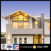 Cheap aluminium rail for blacony, economic terrace railing designs, modern design for balcony railing
