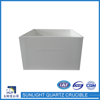 High Quality Factory Price fused silica square quartz ceramic crucible
