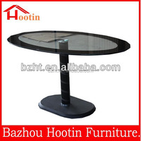 Modern design fancy oval tempered glass dining table D835 best price&hot sale