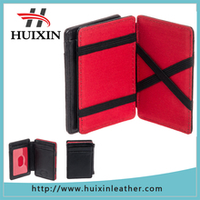 New style fashion card slot magic wallet RFID leather wallet