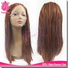 hot resistant synthetic micro braided lace wig, glueless fully hand braided lace front wig