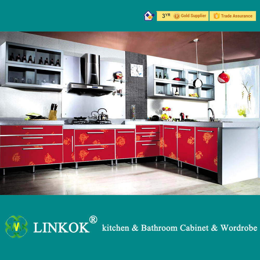 2017 linkok furniture made in china cheap price 2016 for Cheap gloss kitchen units