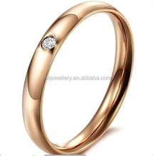 Fashion stainless steel solitaire diamond Ring