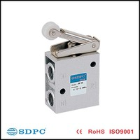 JM series pneumatic control valve,3 ways single direction knurl mechanical valve