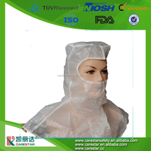 disposable nonwoven hoods with open eyes