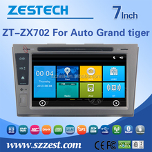 2din touch screen dvd player/gps/DDR 256/3G/1080P/dvd for ZX Auto Grand Tiger car stereo