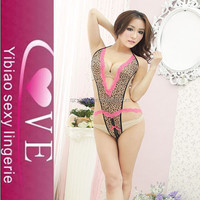 OEM and in stock Leopard grain and lace Carry buttock sex photo women sexy lingerie
