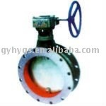 Roud Worm Wheel Ventilation Butterfly Valve