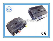 Scart plug to 3 RCA jack/scart connector/scart adaptor/scart cable/scart to vga converter/scart to hdmi converter