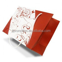 china Offset Printing black style Gift paper Bag with ribbon handle