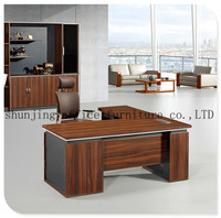 HT-528 2015 Hot Sell Melamine Wooden Director Executive Office Desk