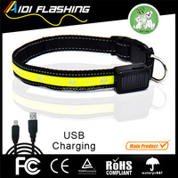 OEM ODM High Demand Dog Products In USA USB/Solar Rechargeable LED Dog Collar