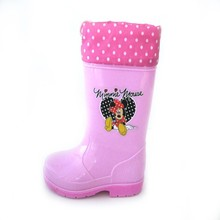Inexpensive Likeable Raindrop Pattern Rubber Rain Boot for Kids