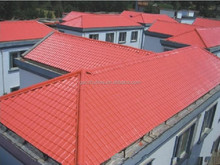 Lasting color red anti-uv roof tile size roof tiles synthetic resin for wholesale made in China