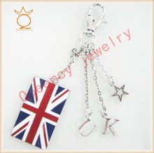 2012 LONDON zinc alloy UK flag keychain gift