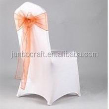 chair decoration tie organza sash