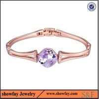 20445 Hot sale 22k gold bangle bracelet crystal bangle