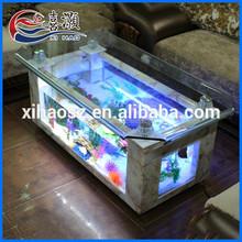 Hot Selling Modern Fish Glass Aluminum Alloy Aquarium Coffee Table