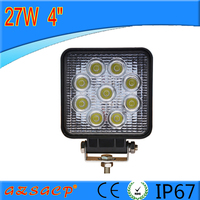 "2015 direct factory 4"" 27w led work light 12v led tractor work light with good quality"