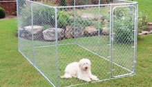 10x10x6 foot classic galvanized outdoor dog kennel iron fence dog kennel for sale