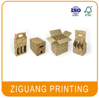 Different types of cardboard bottle packaging box