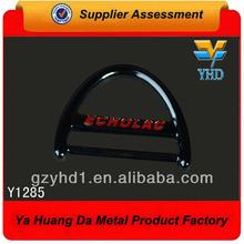 la moda de metal logotipo deslizador