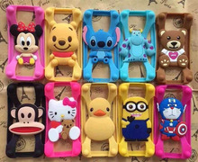 Mobile accessories custom design Best Plastic Silicone cell phone case for iphone 6 bumper case wood catoon caver