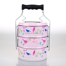 Creative decorations enamel tiffin carrier camping food carrier wholesales