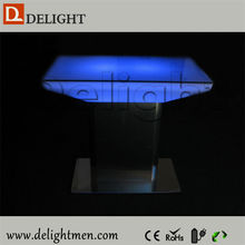 New products waterproof illuminated RGB remote control model dining tables