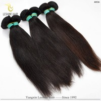 2015 Long Lasting Wholesale High Quality Unprocessed Natural Color gray hair weave