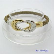 Hot 2013 2 tone Tennis Rackets infinity Leather wish magnet bracelet