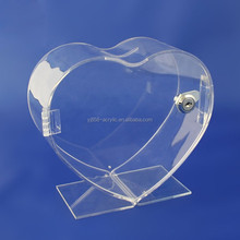 New style clear kids plastic money box with lock and key