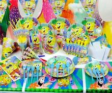 Spongebob theme of kids birthday party supplies