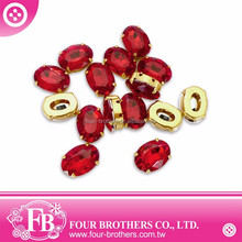 2015 new product 13x18mm oval acrylic crystal rhinestone trimming accessories
